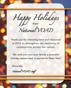 NVOAD 2013 Holiday message